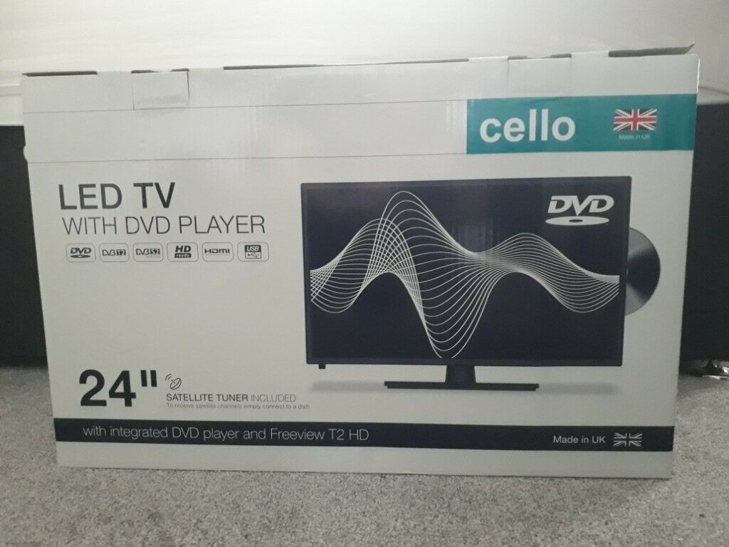 Celloquot LED TV with DVD NEW
