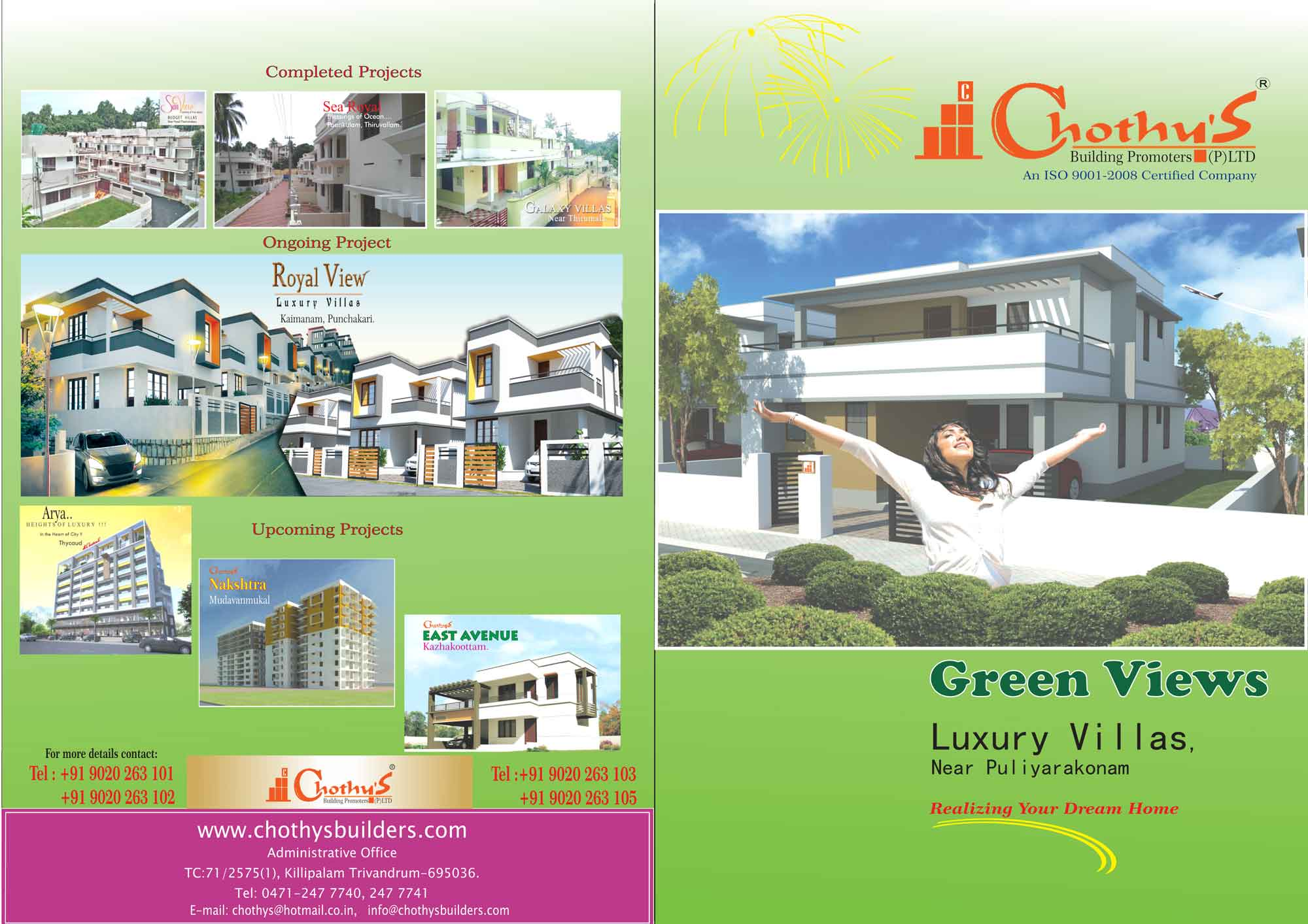 Green Views Luxury villas  lacs onwards