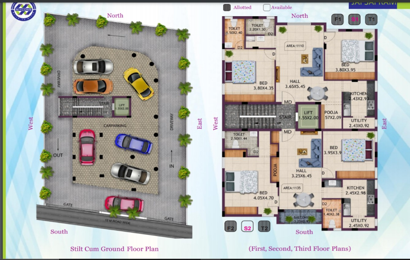 two BHK for sale at Adyar