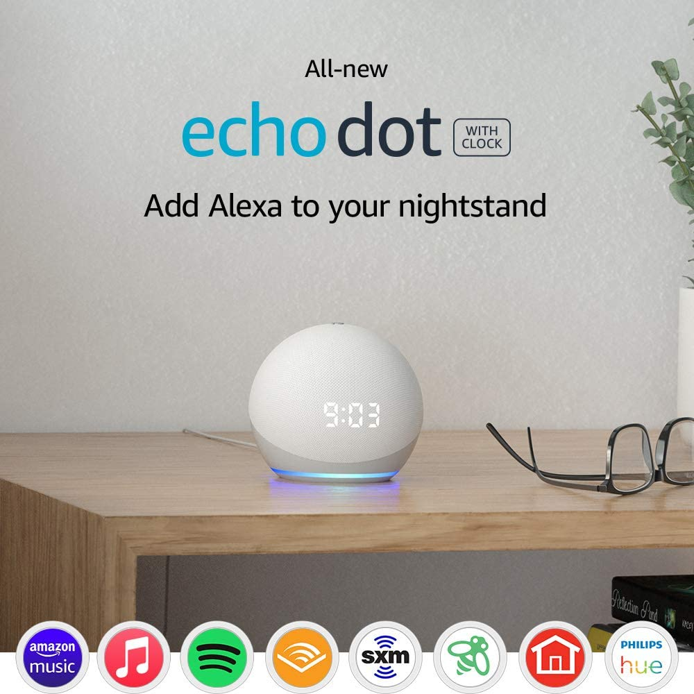 All New Dot th Gen Smart Speaker Clock